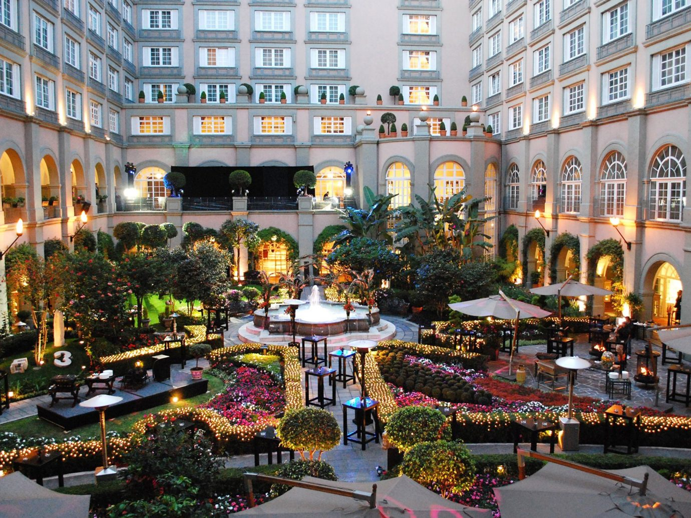 Hotels building outdoor plaza City Downtown shopping mall town square condominium palace apartment building Resort