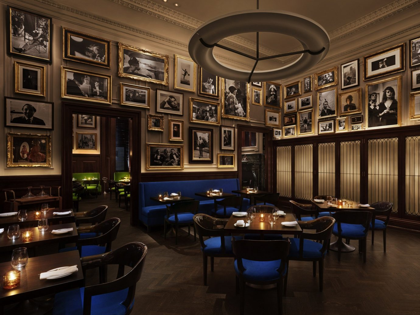 Food + Drink Romance indoor floor room building ceiling estate interior design recreation room Bar lighting Lobby restaurant furniture several