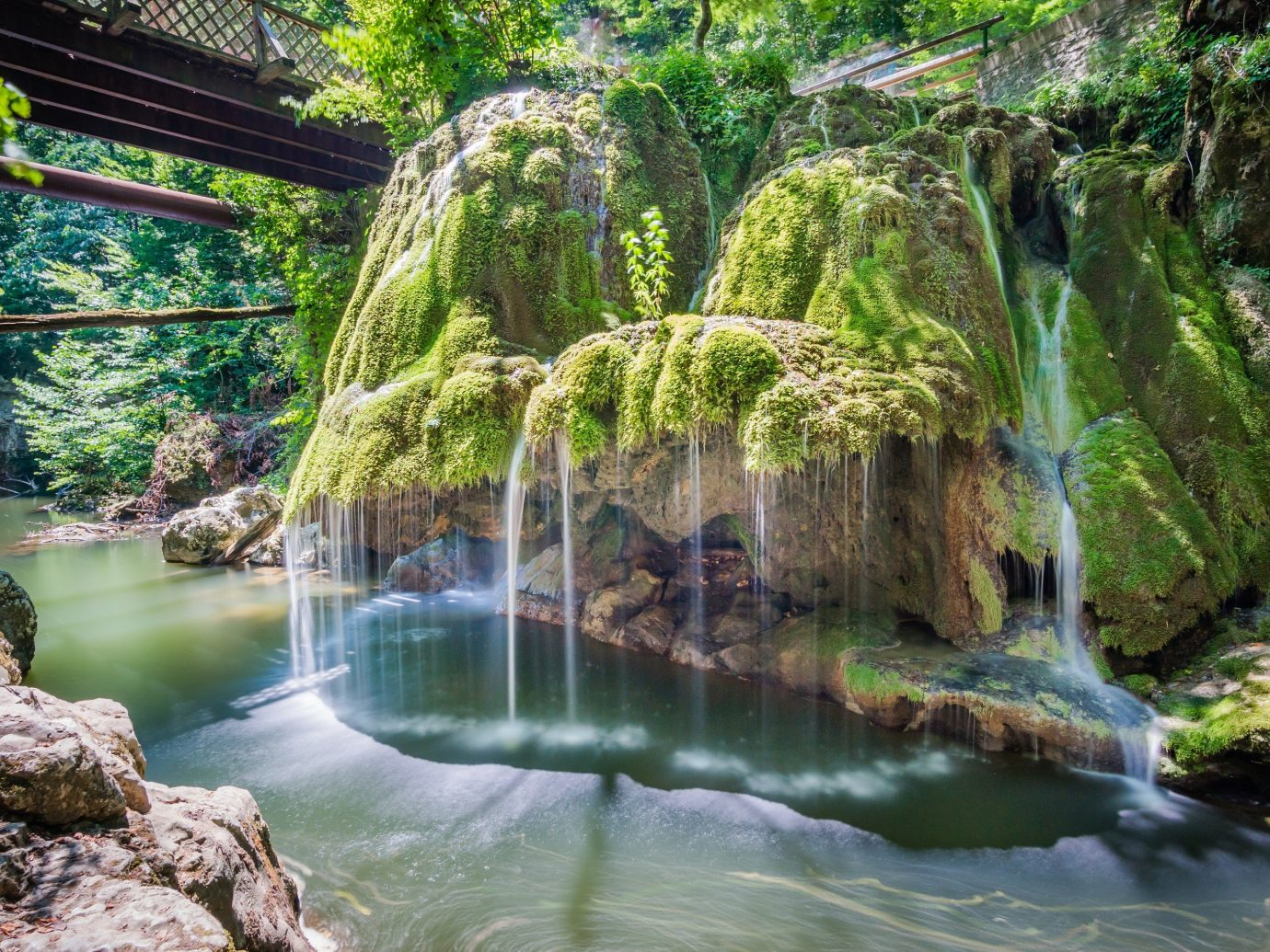 Trip Ideas tree outdoor water Nature Waterfall rock vegetation body of water watercourse botany water feature rainforest River Jungle Forest stream park flower