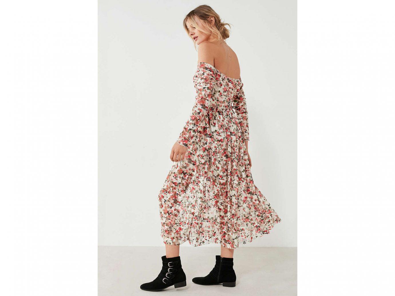 Fall Travel Style + Design Travel Shop Weekend Getaways clothing day dress dress fashion model shoulder girl joint neck pattern trunk waist shoe fashion design
