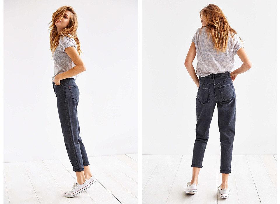 Style + Design person jeans clothing denim cellphone waist standing fashion model trousers trouser abdomen shoe trunk girl human leg