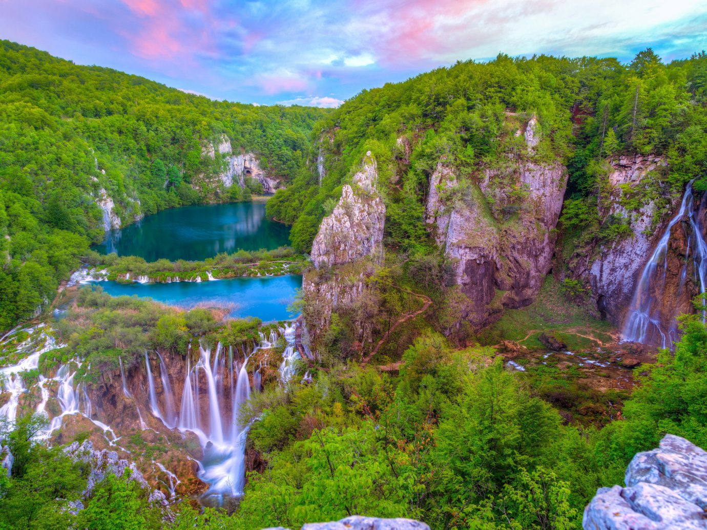 Offbeat Travel Tips Trip Ideas tree Nature Waterfall outdoor body of water wilderness ecosystem water water feature landscape canyon valley fjord park flower reflection national park Lake stream surrounded Forest hillside lush