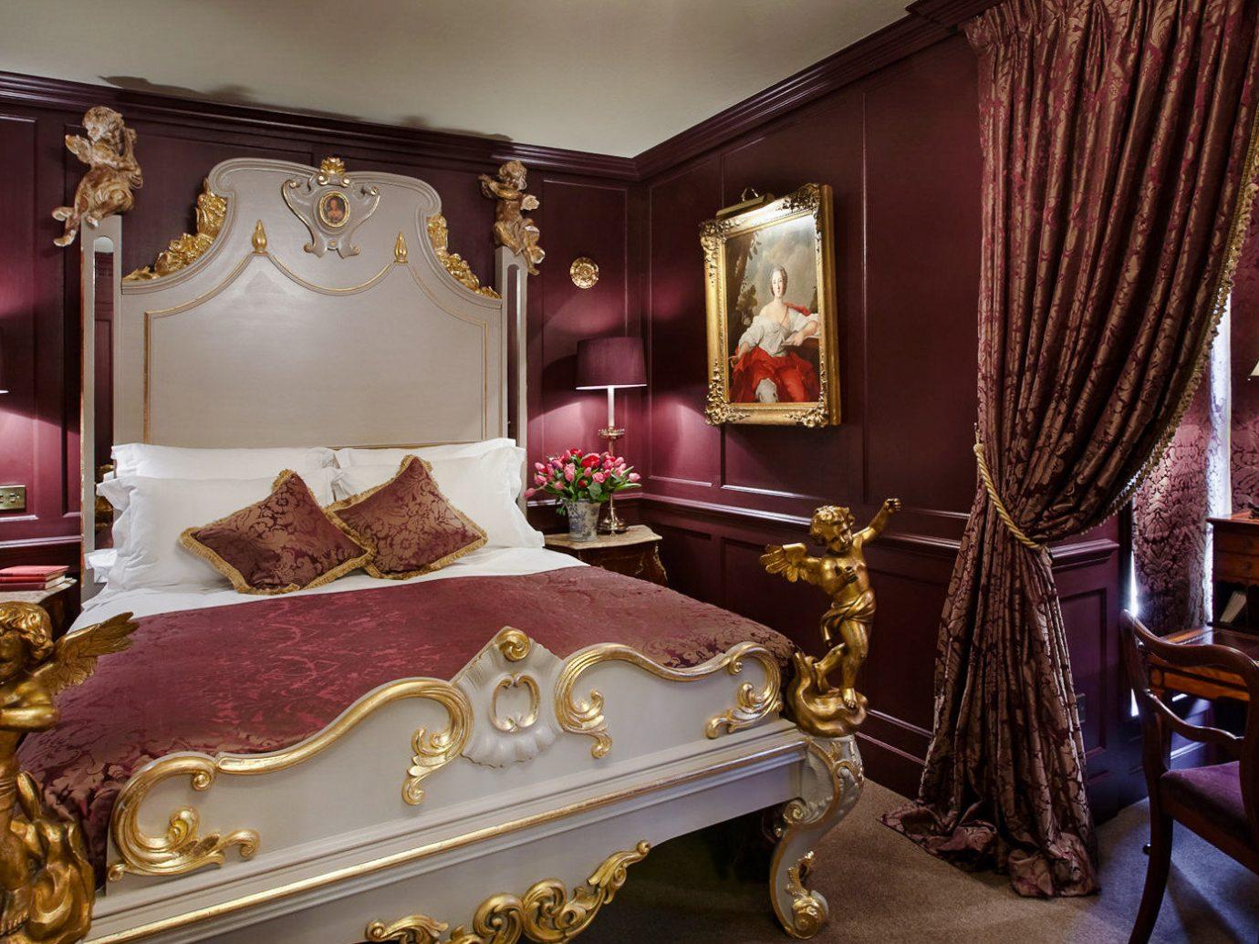 Boutique Hotels London Romantic Hotels room indoor furniture Suite interior design Bedroom home bed Classic estate bed frame bed sheet decorated several