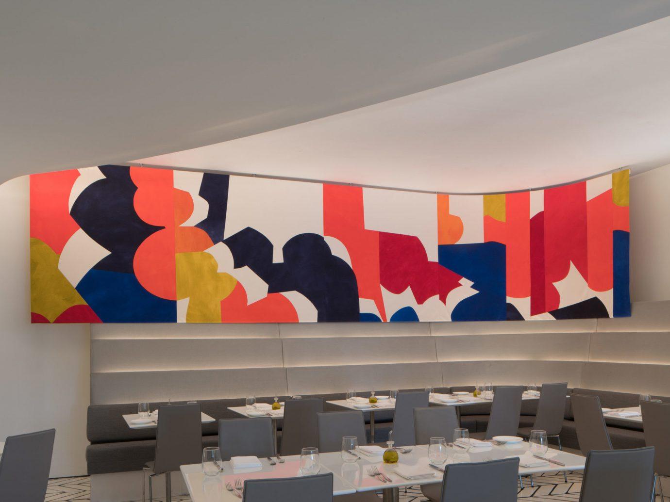 Food + Drink color indoor ceiling Architecture art interior design Design brand modern art shape exhibition display device