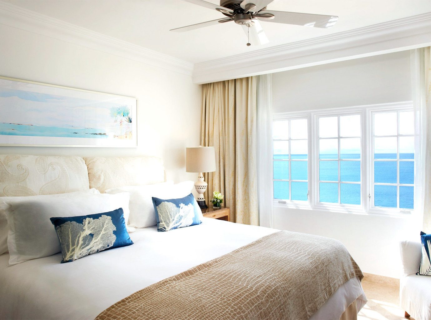 Beachfront Bedroom Family Luxury Modern Resort Trip Ideas indoor bed sofa window wall room ceiling hotel property home living room estate interior design Suite real estate pillow cottage condominium apartment window covering furniture decorated flat