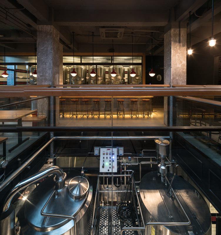 Trip Ideas ceiling indoor interior design restaurant Bar lighting glass brewery
