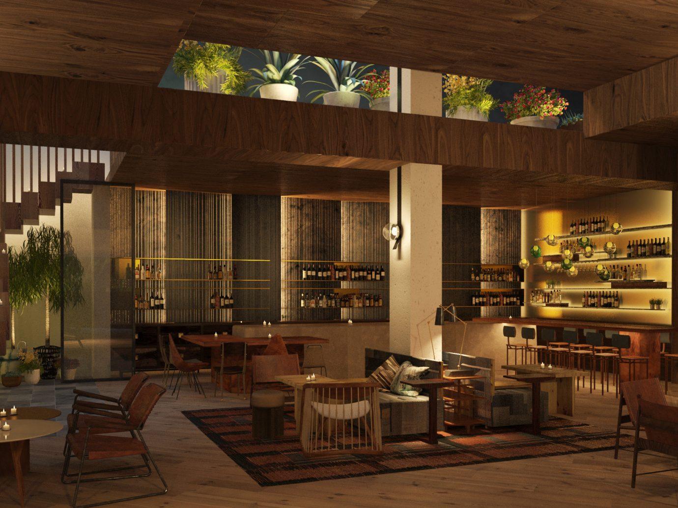 Hotels indoor Living room ceiling interior design furniture café living room restaurant Lobby window interior designer area wood