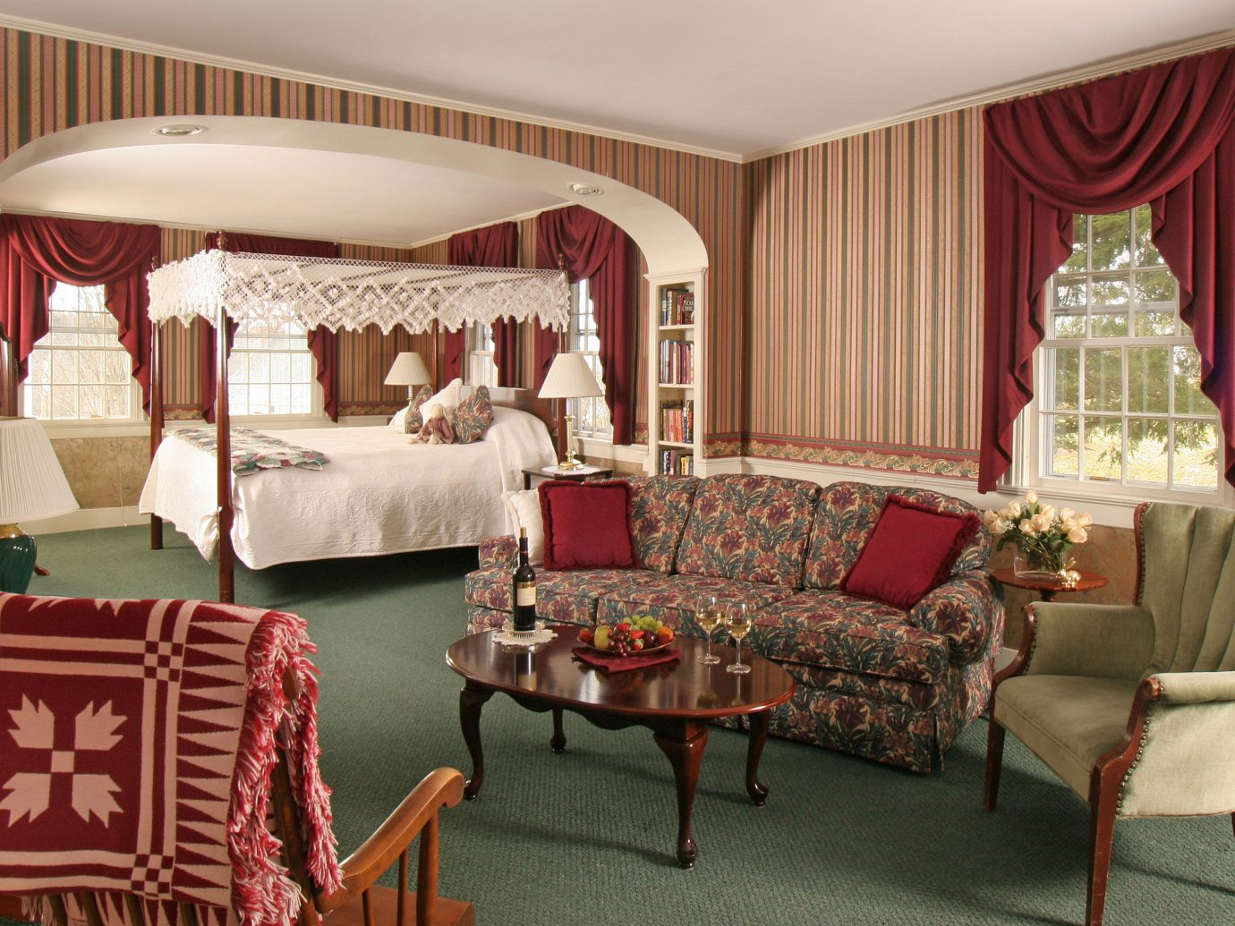 Bedroom Boutique Hotels Classic Country Hotels Inn Romantic Getaways Romantic Hotels Suite indoor floor Living room sofa wall chair living room furniture curtain interior design estate home dining room decorated