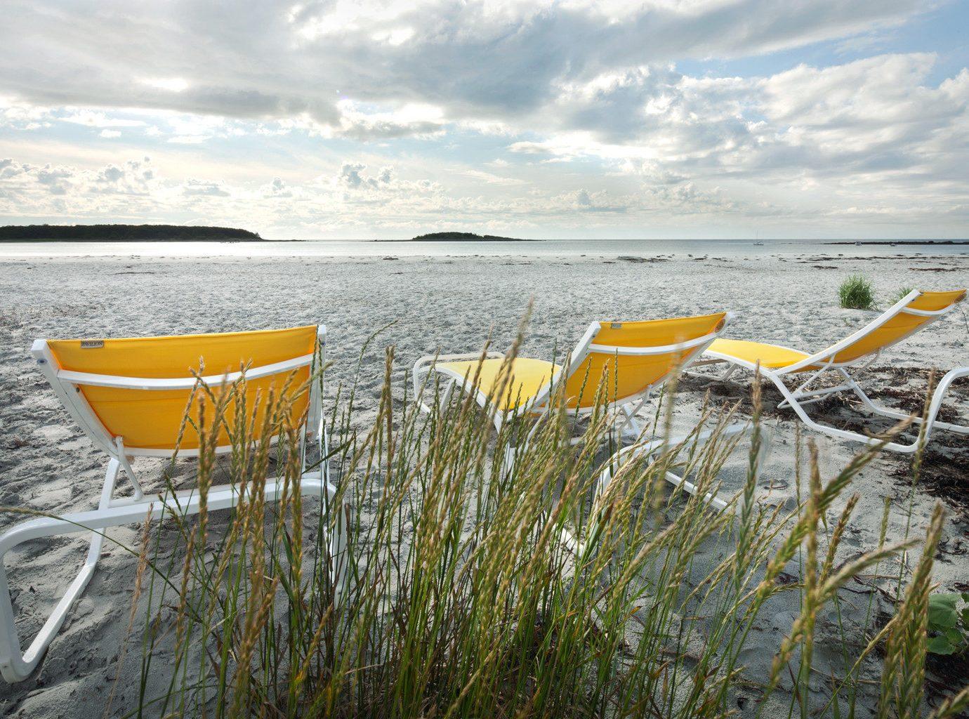 Beachside chairs at the Tides Beach Club, Maine