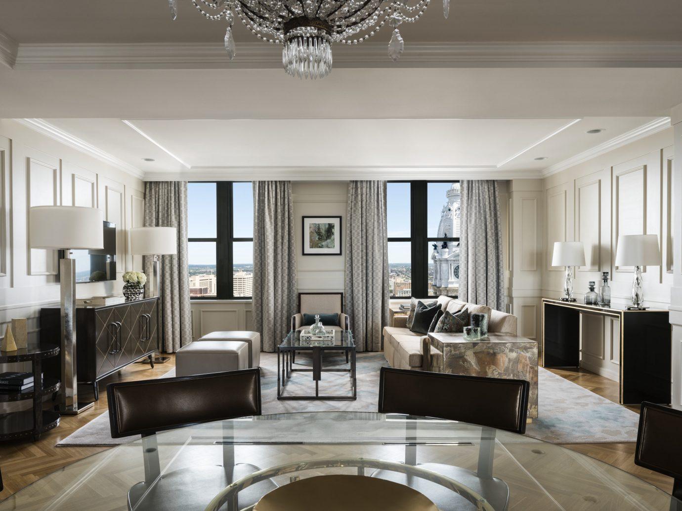 Boutique Hotels Hotels Philadelphia indoor ceiling window floor wall room Living living room interior design furniture interior designer flooring area Modern Island several