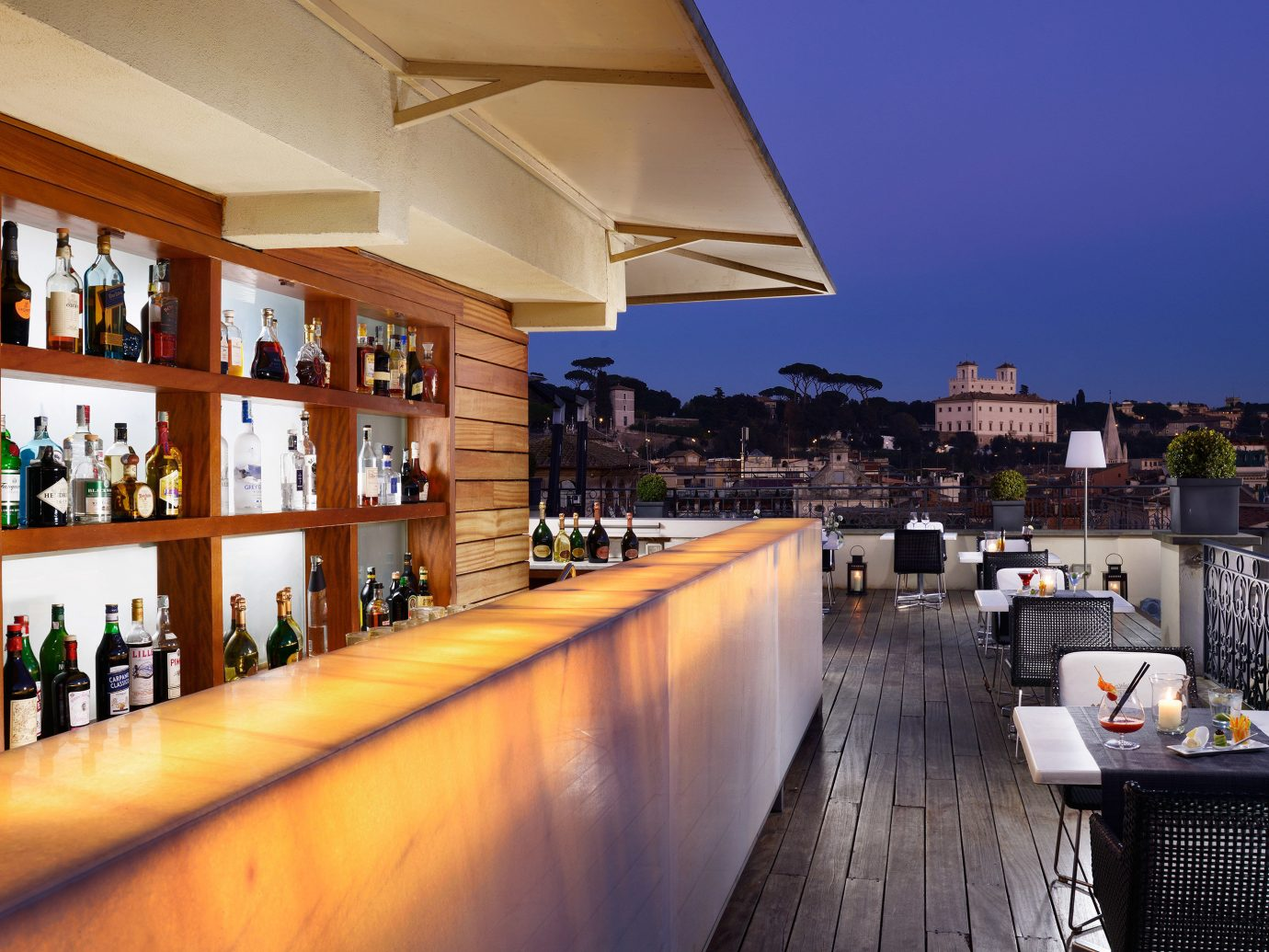 Bar Boutique Boutique Hotels City Dining Drink Eat Italy Luxury Travel Romantic Hotels Rome Rooftop floor property estate Architecture house home interior design condominium restaurant area