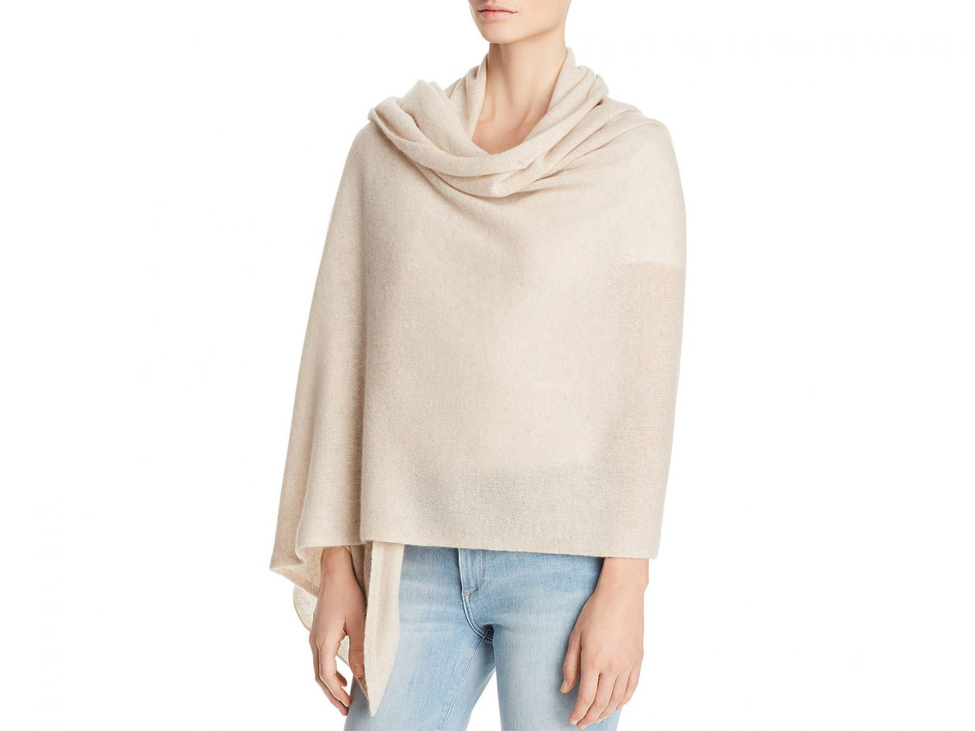 Packing Tips Style + Design Travel Shop person clothing shoulder neck standing poncho posing beige sleeve woolen