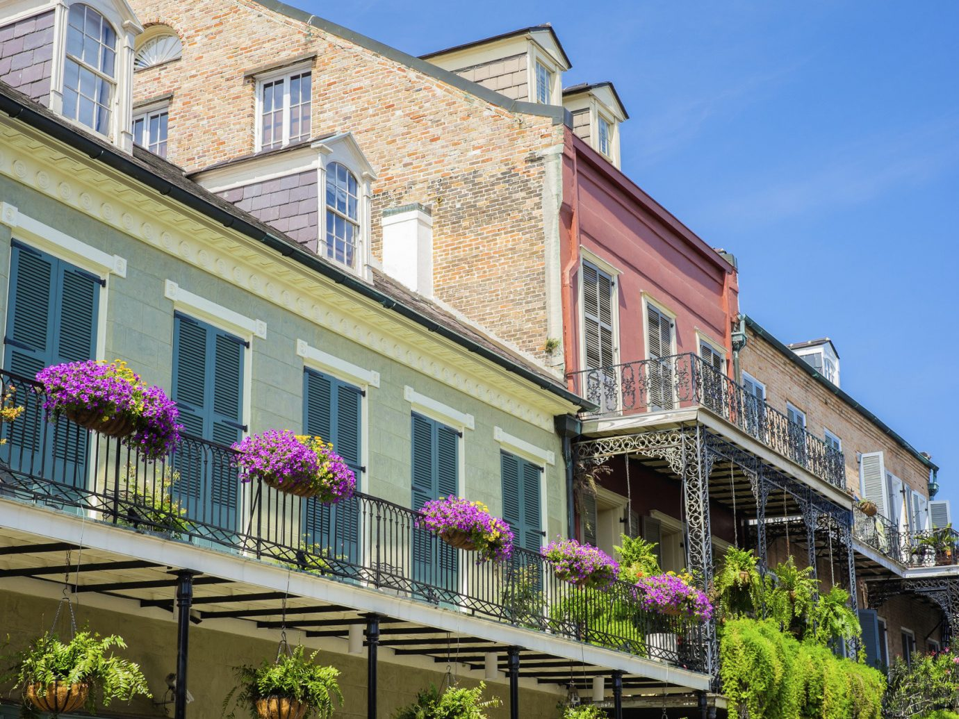 Houses in the French Quarter in New Orleans