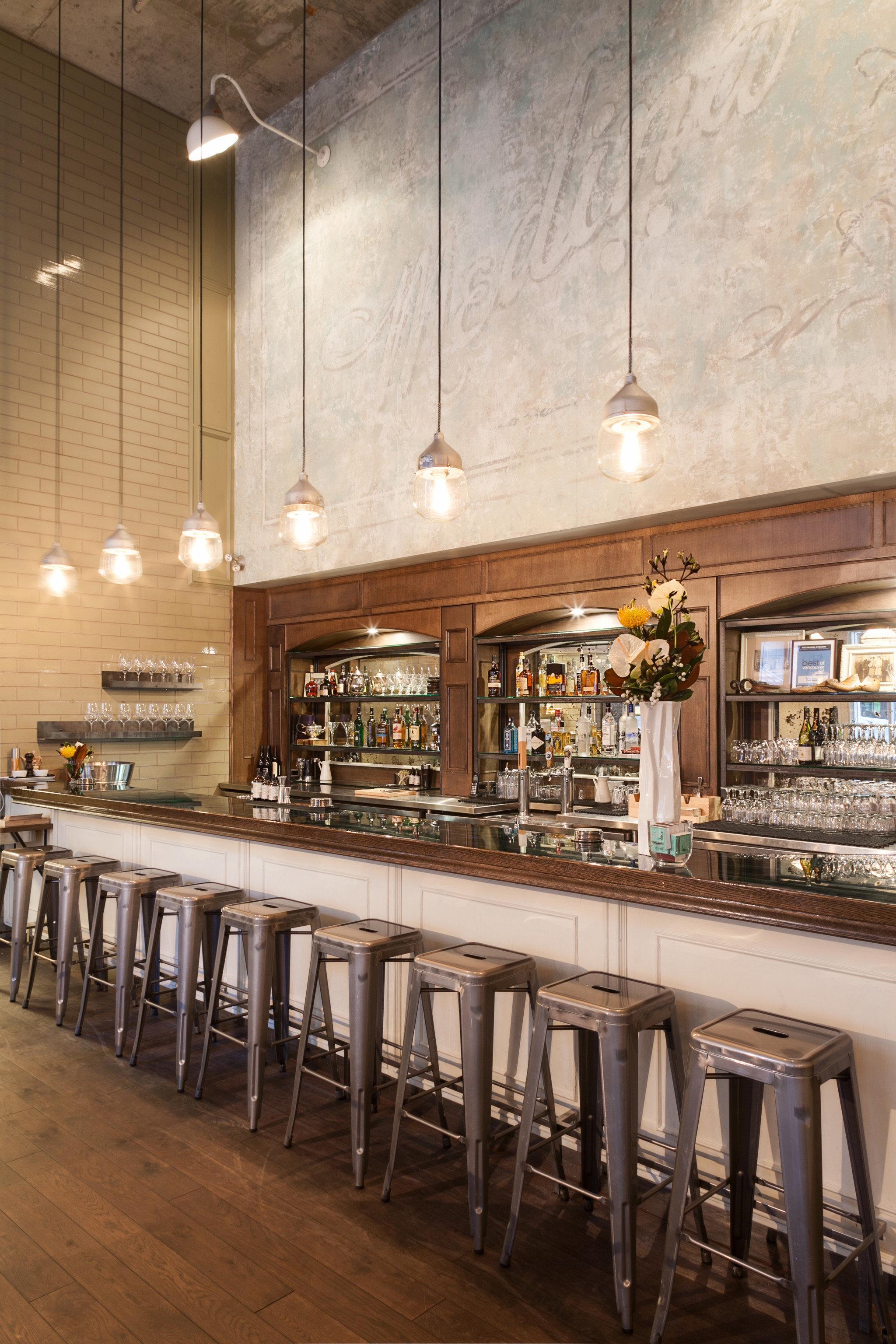 Trip Ideas indoor floor room restaurant interior design estate lighting wood Bar counter meal Design long several dining room