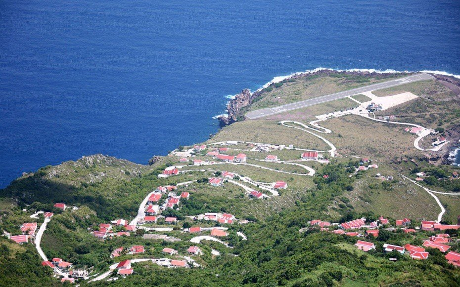 Offbeat grass outdoor aerial photography Coast bird's eye view mountain Nature vacation Sea cape shore hillside