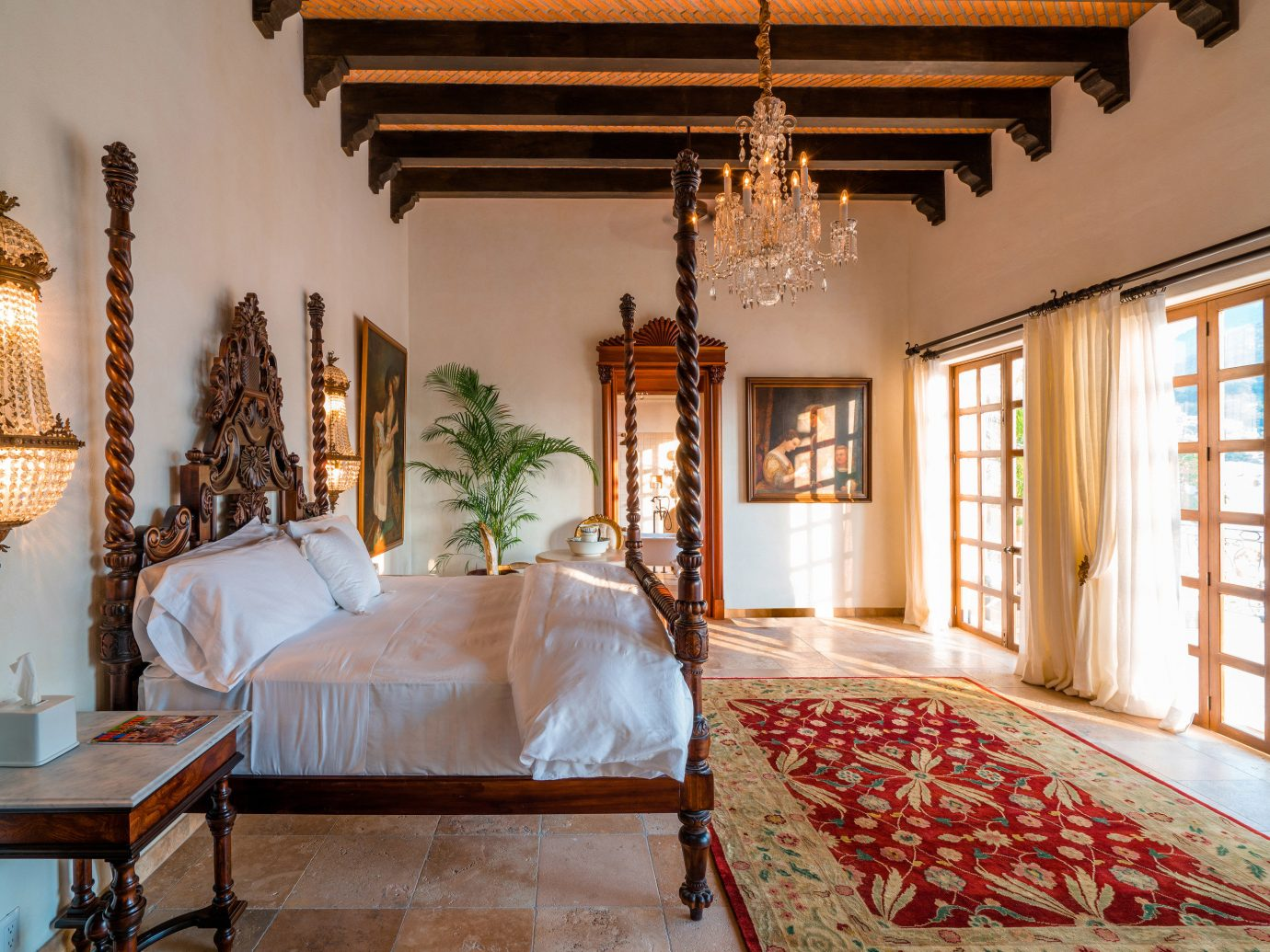 Hotels Romance indoor floor wall room property bed estate house window home living room interior design mansion cottage Villa farmhouse Bedroom real estate decorated