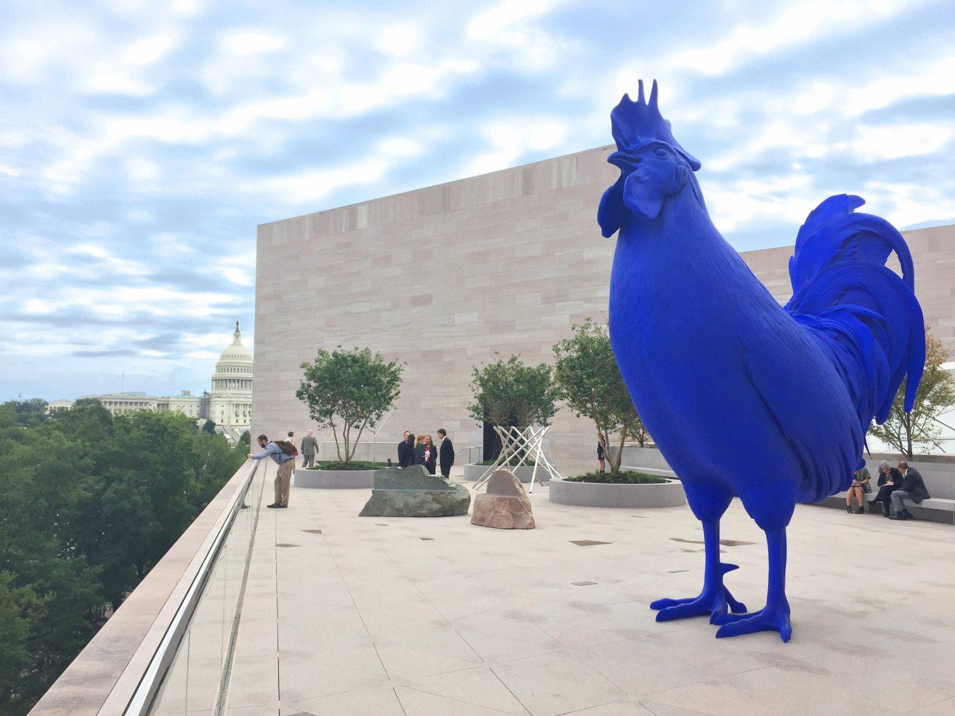Offbeat outdoor sky blue statue sculpture monument vacation art