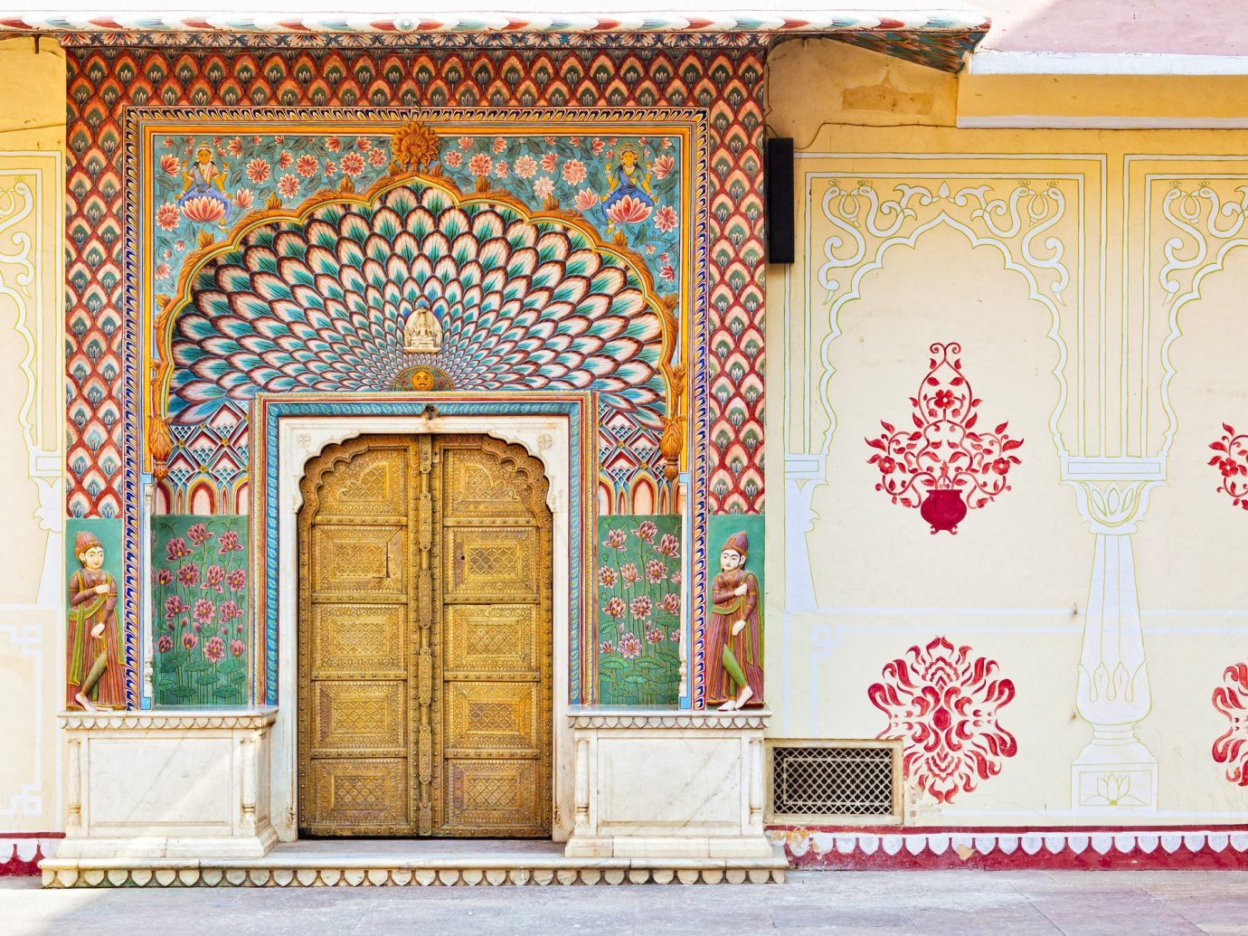 Offbeat Travel Tips wall interior design door picture frame window arch decorated colorful painted painting