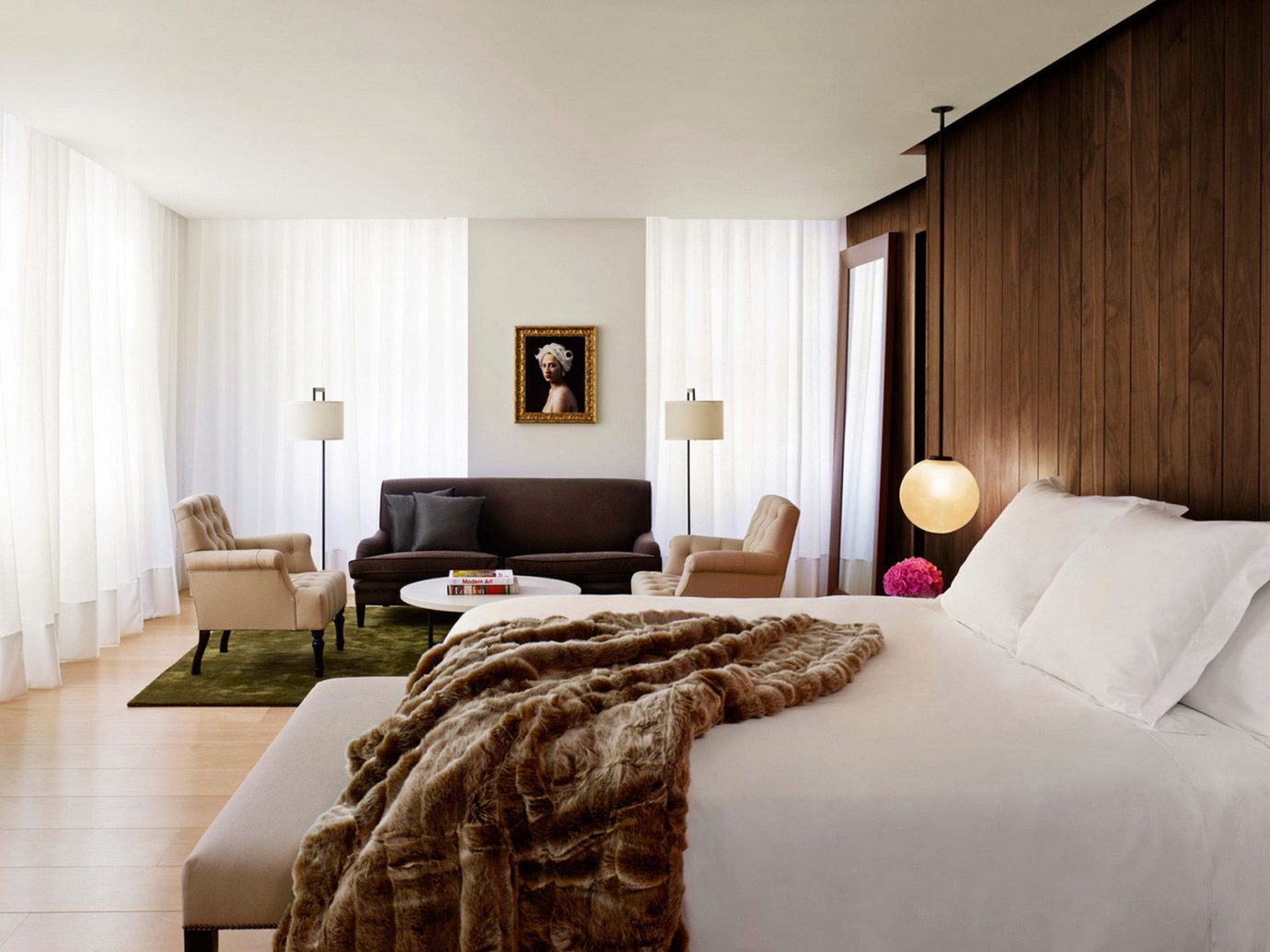 Bedroom Boutique Hotels Elegant Hip London Luxury Modern Romantic Hotels Suite indoor wall bed room sofa floor ceiling hotel property interior design home real estate cottage estate living room pillow apartment bed sheet flat decorated furniture