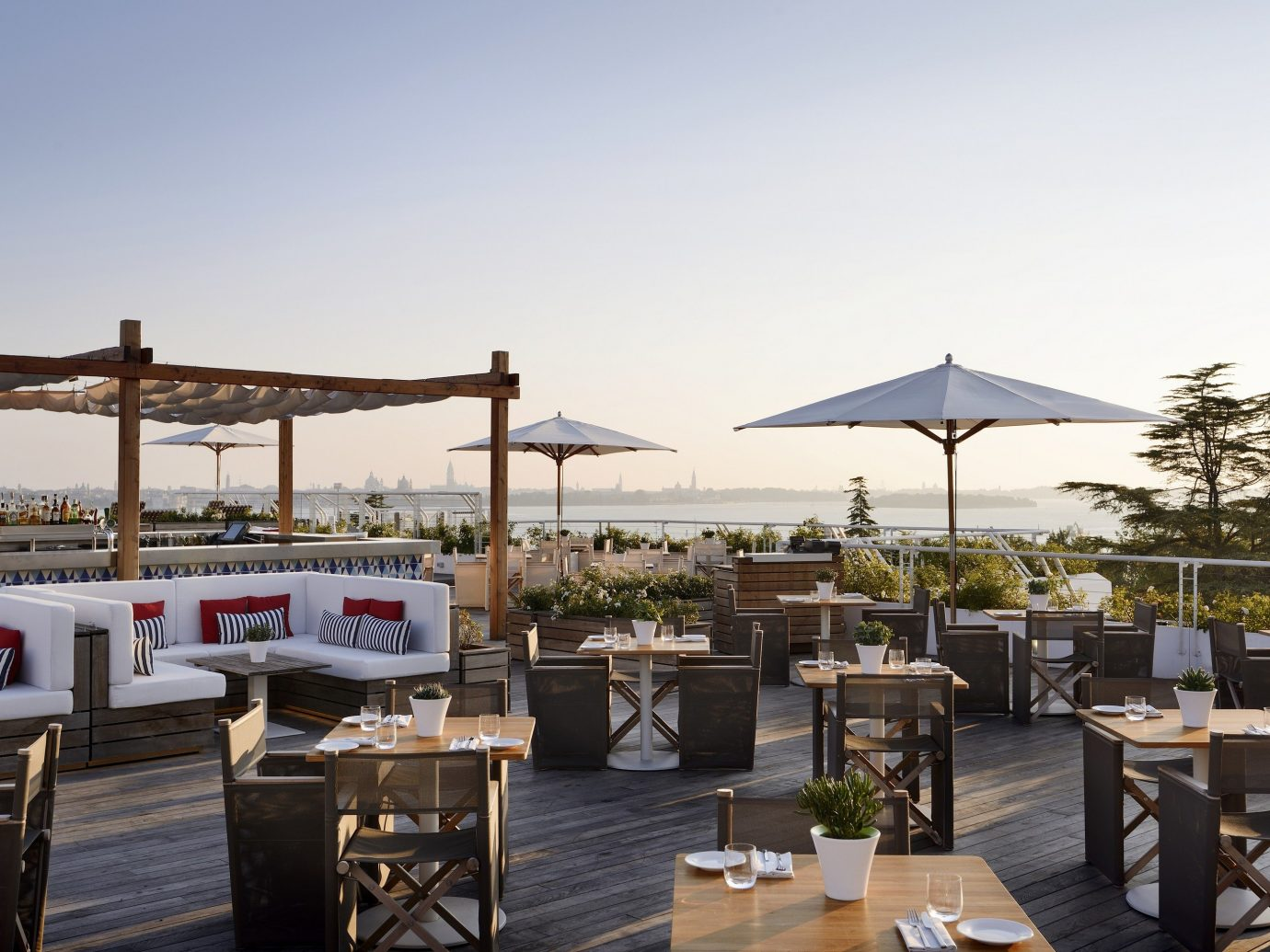 Hotels Italy Luxury Travel Venice sky restaurant Resort furniture several