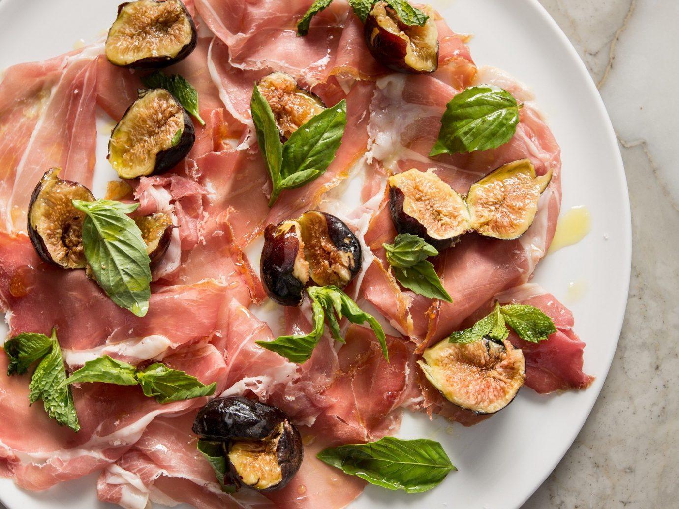 Food + Drink plate food dish meat prosciutto produce meal bruschetta cuisine vegetable salt cured meat breakfast pork piece de resistance