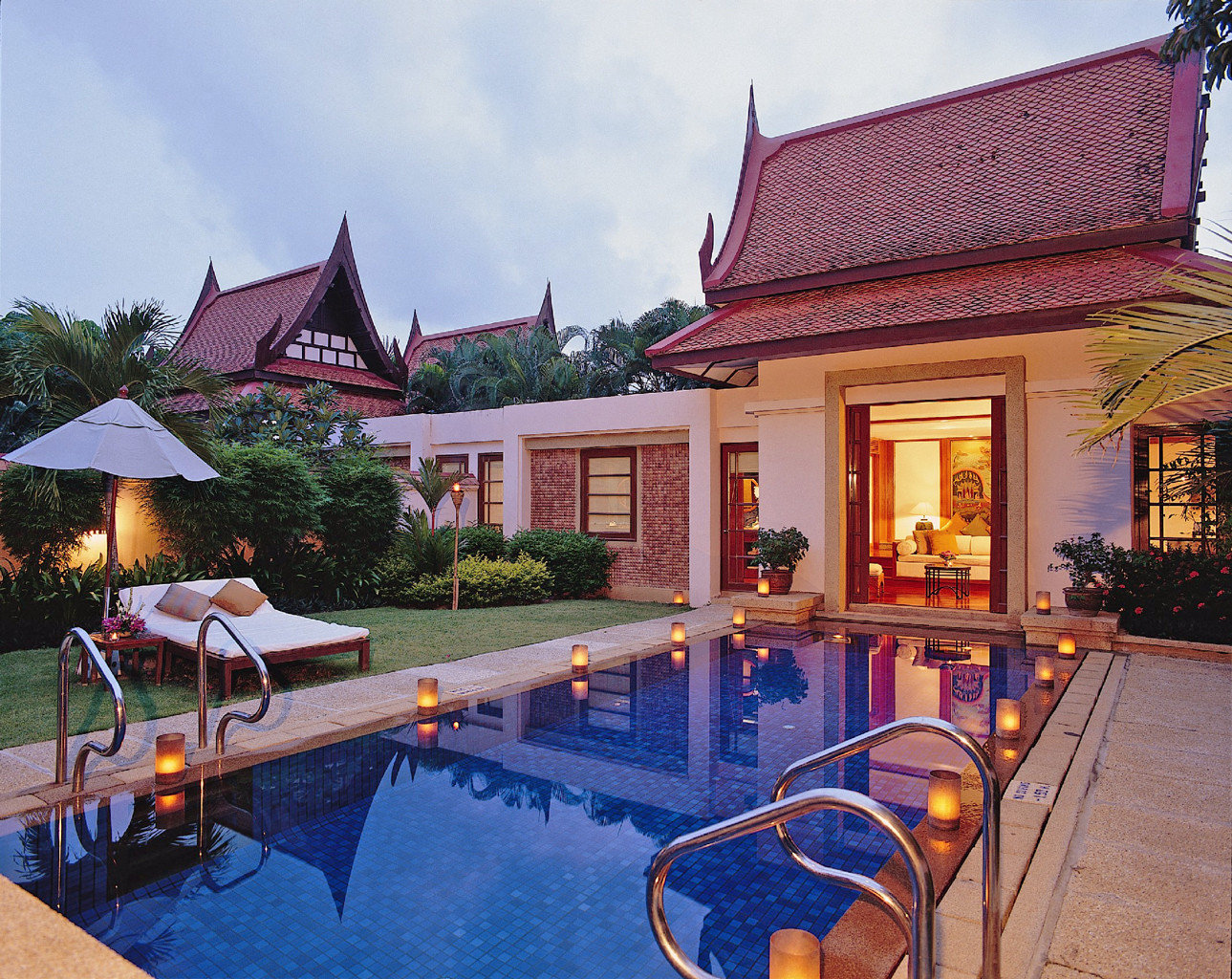 Beach Hotels Phuket Thailand outdoor sky property leisure swimming pool building estate house Resort Villa home vacation backyard cottage real estate hacienda mansion