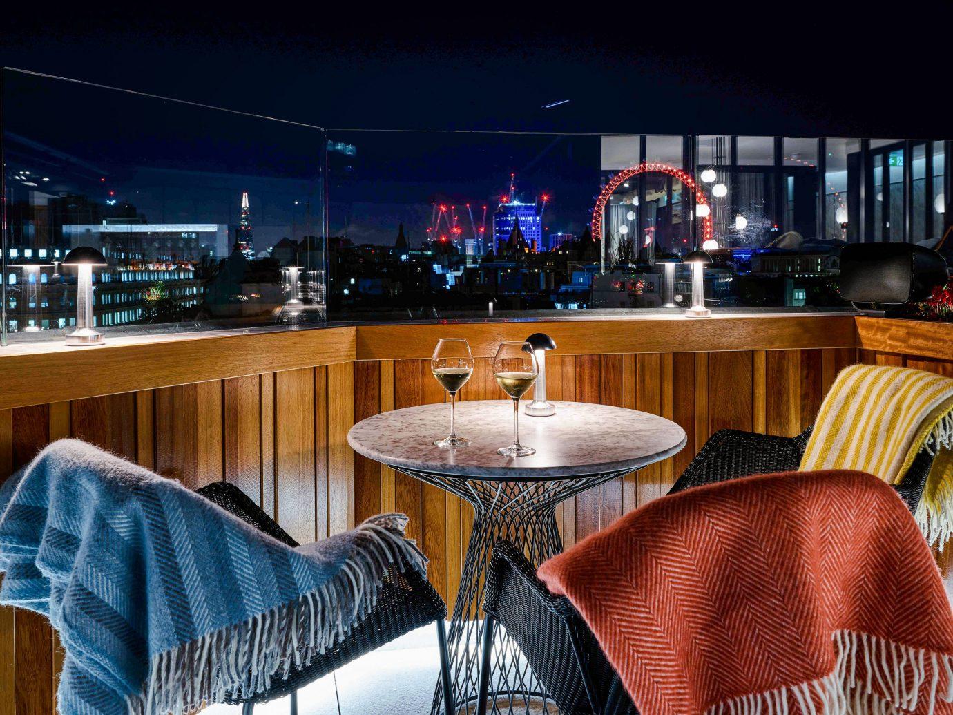 Food + Drink Trip Ideas indoor chair restaurant table lighting interior design ceiling Bar