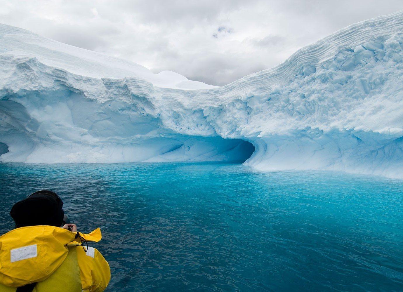 Cruise Travel Trip Ideas water outdoor Nature iceberg mountain ice Ocean Sea wind wave arctic arctic ocean fjord wave yellow sea ice extreme sport glacial landform glacier computer wallpaper