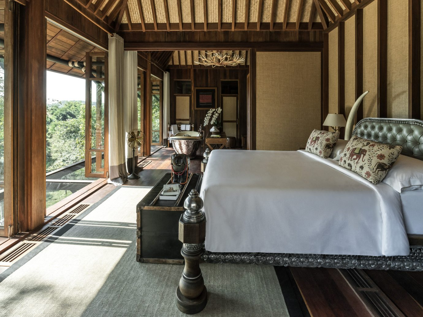 Bedroom at Four Seasons Tented Camp Golden Triangle, Thailand