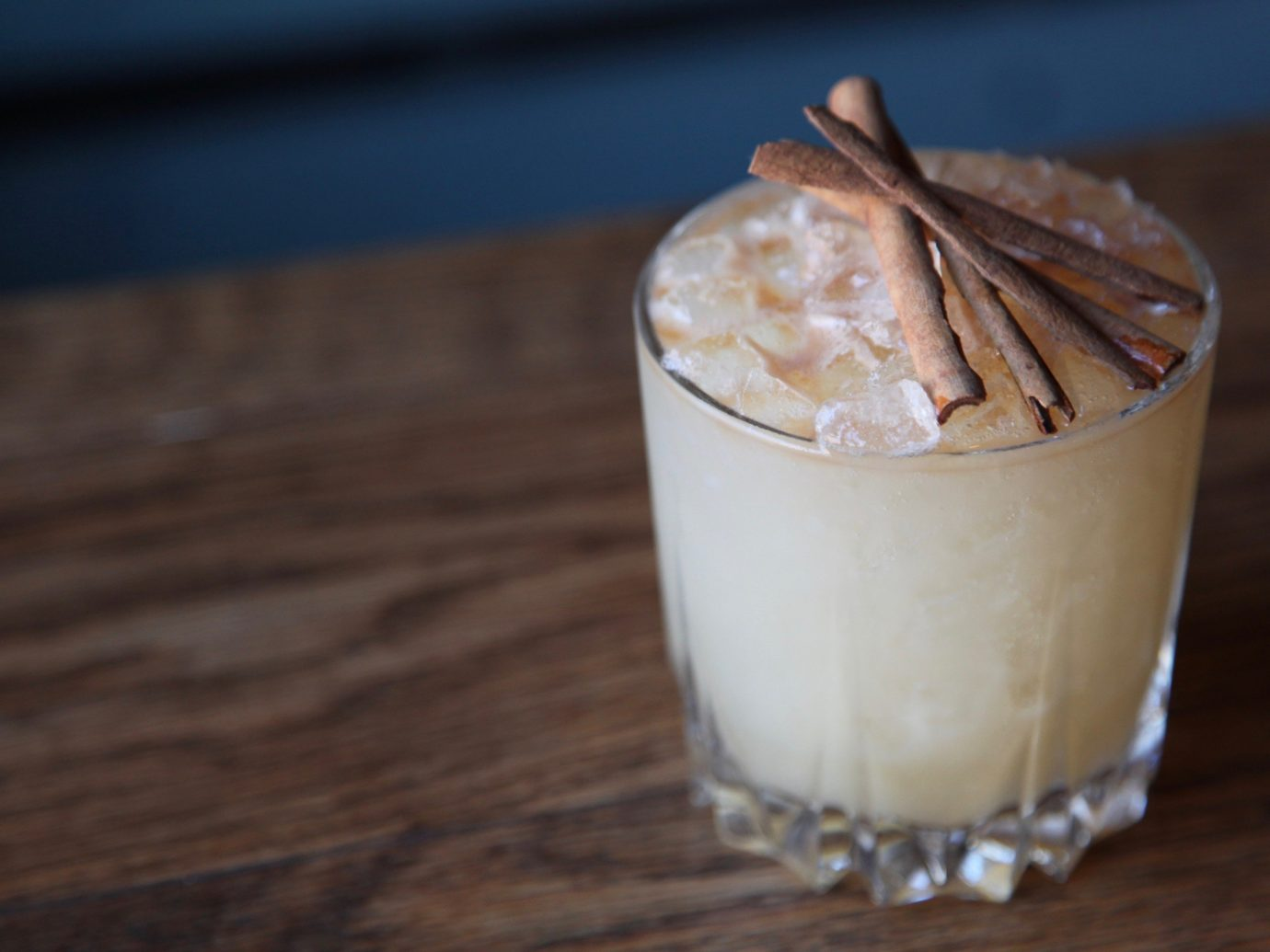 Food + Drink cup table coffee indoor food Drink milkshake dessert coconut flavor latte dairy product sliced