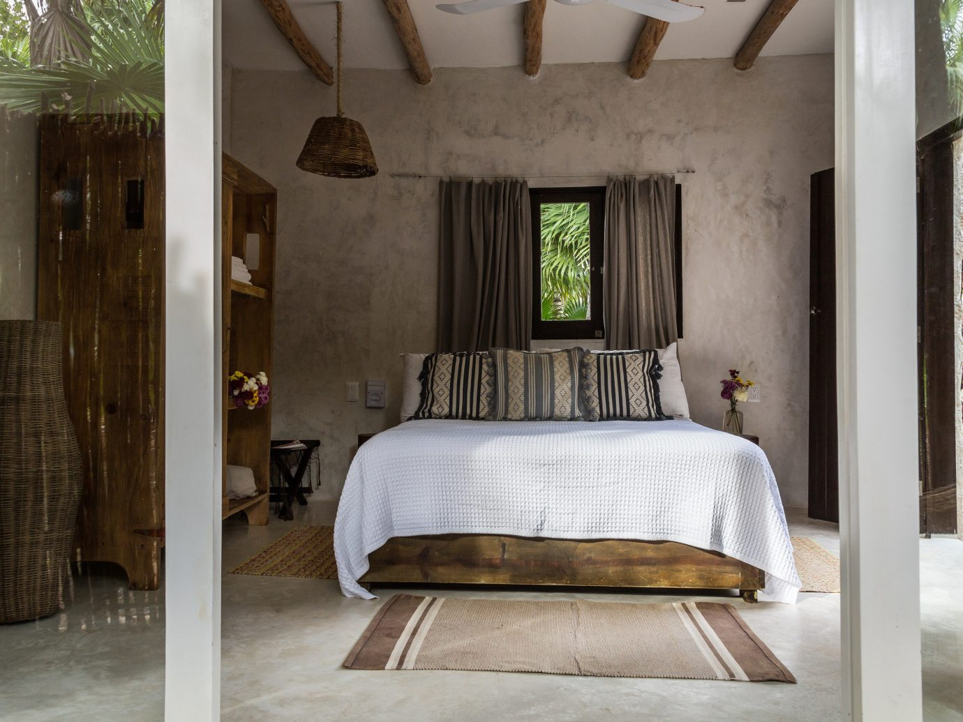 Boutique Hotels Hotels Mexico Tulum indoor floor room furniture interior design bed frame bed ceiling estate Bedroom home four poster house window chair