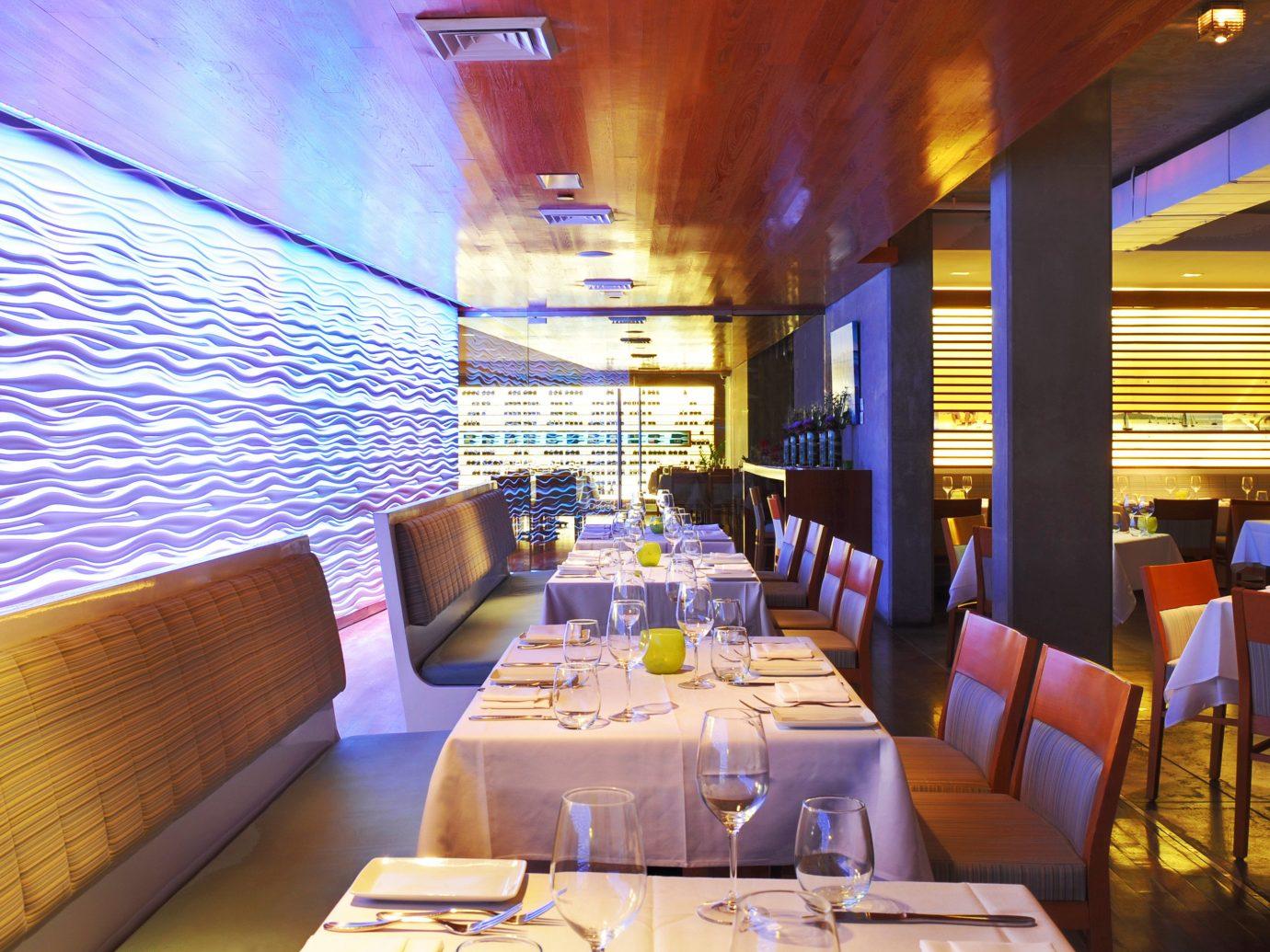 Beach Beachfront Dining Drink Eat Resort table indoor room restaurant window function hall interior design meal convention center yacht Bar furniture