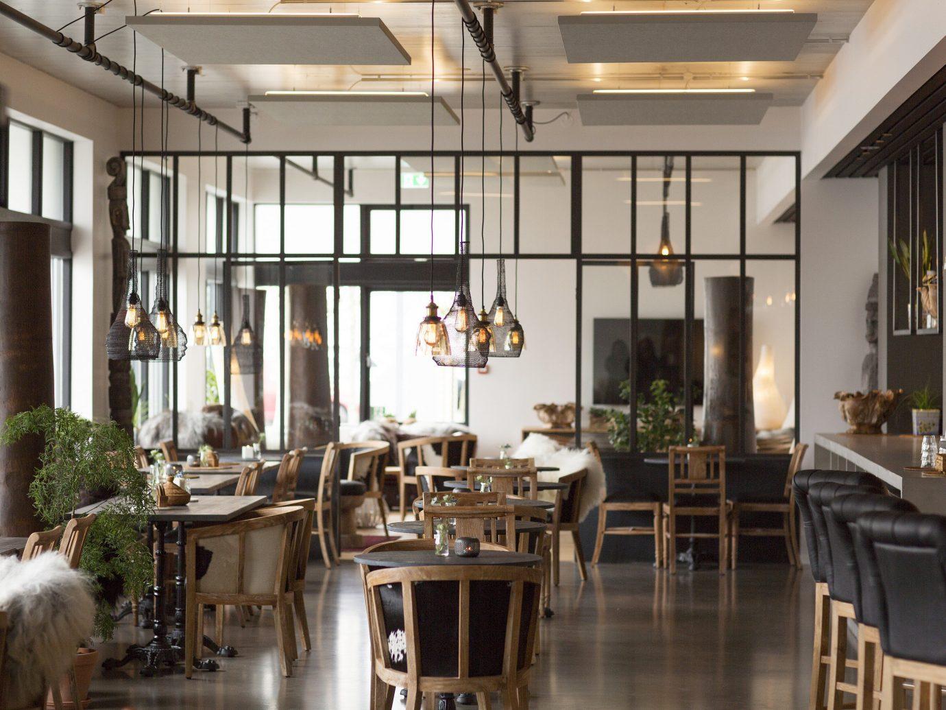 Boutique Hotels Hotels Iceland Reykjavík indoor floor interior design restaurant dining room café table furniture several dining table