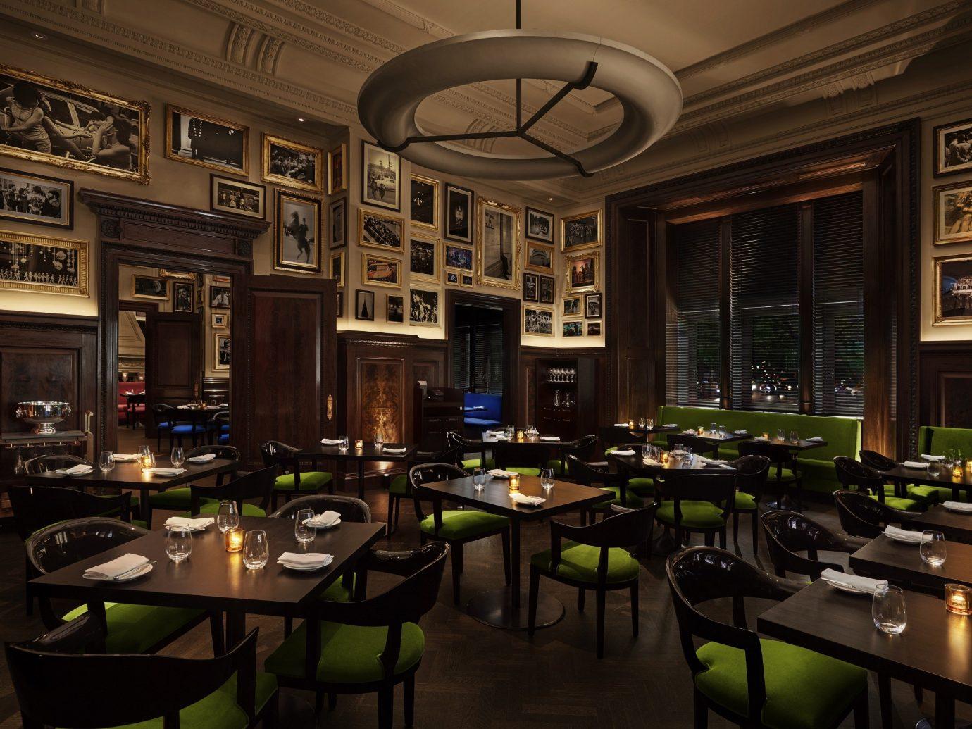 Food + Drink Romance indoor table window ceiling room estate Bar restaurant interior design lighting meal furniture several Island