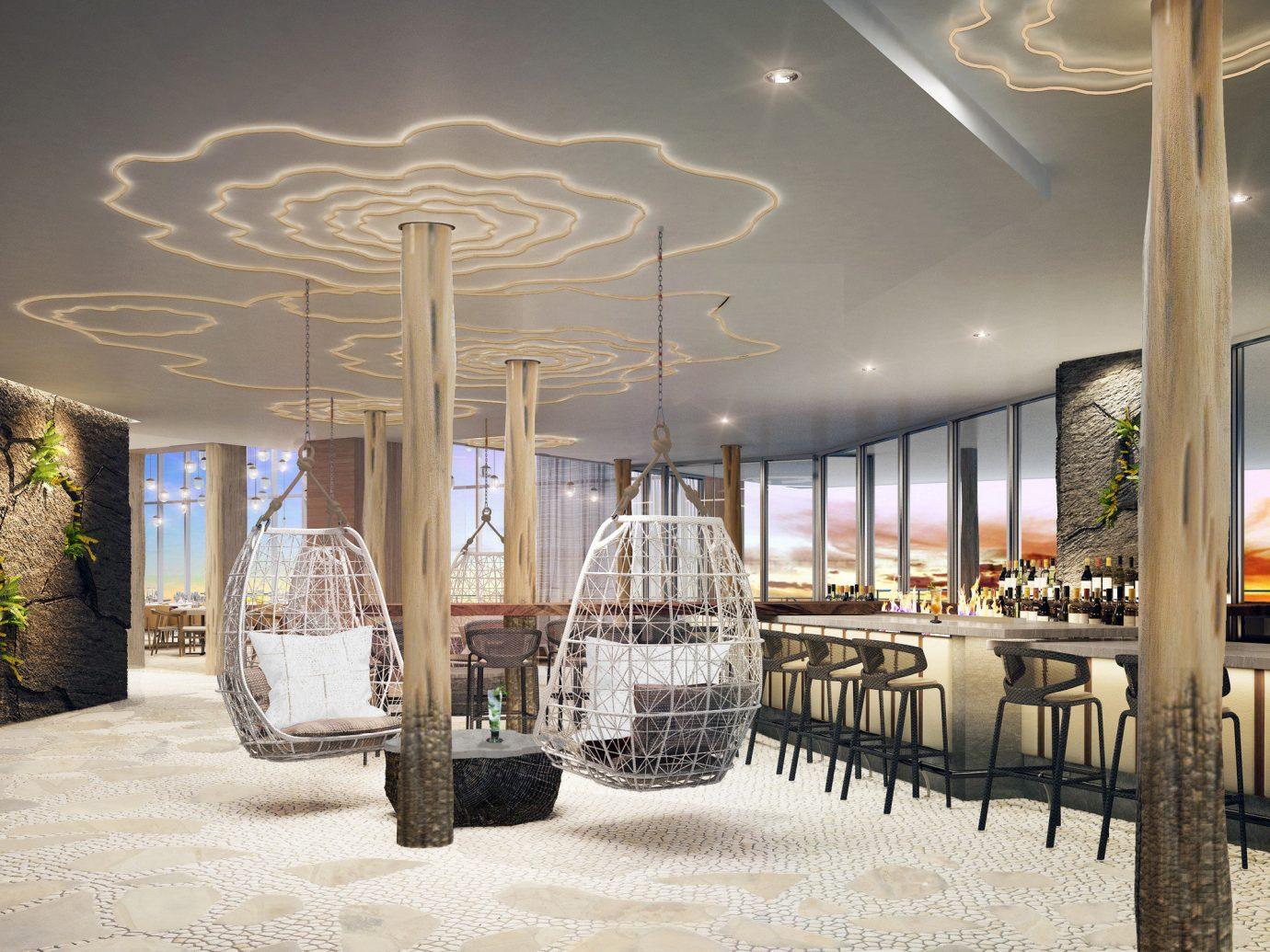 Hotels indoor estate restaurant lighting interior design aisle