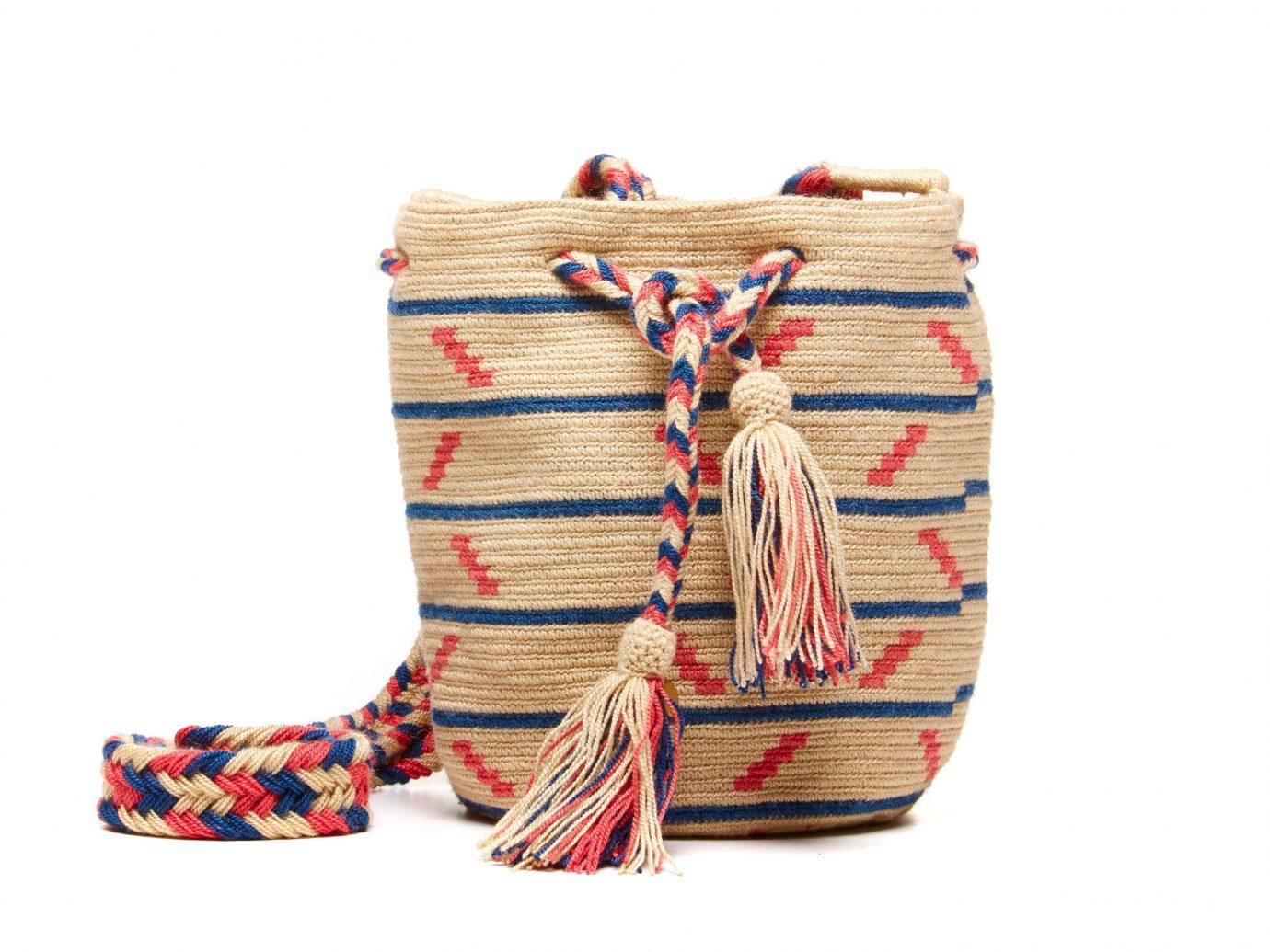 Style + Design bag fashion accessory pattern textile handbag decorated colorful colored thread