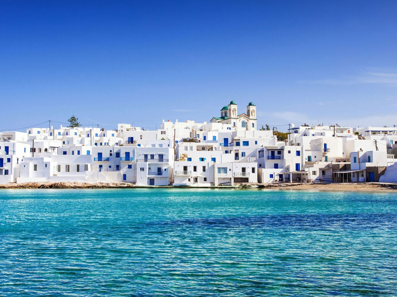 Skyline of Antiparos, Greece