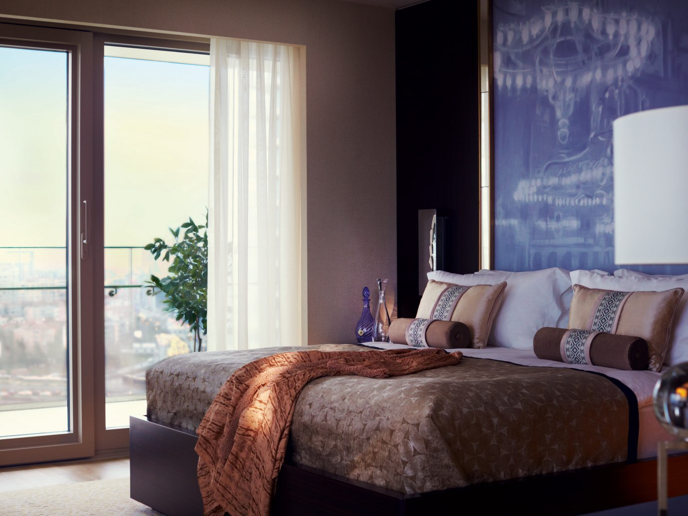 Bedroom Boutique Hotels City Hotels Lounge Luxury Travel Scenic views Suite indoor window room sofa wall floor Living property interior design home living room furniture bed window covering real estate hotel curtain estate textile bed sheet window treatment cottage flat decorated