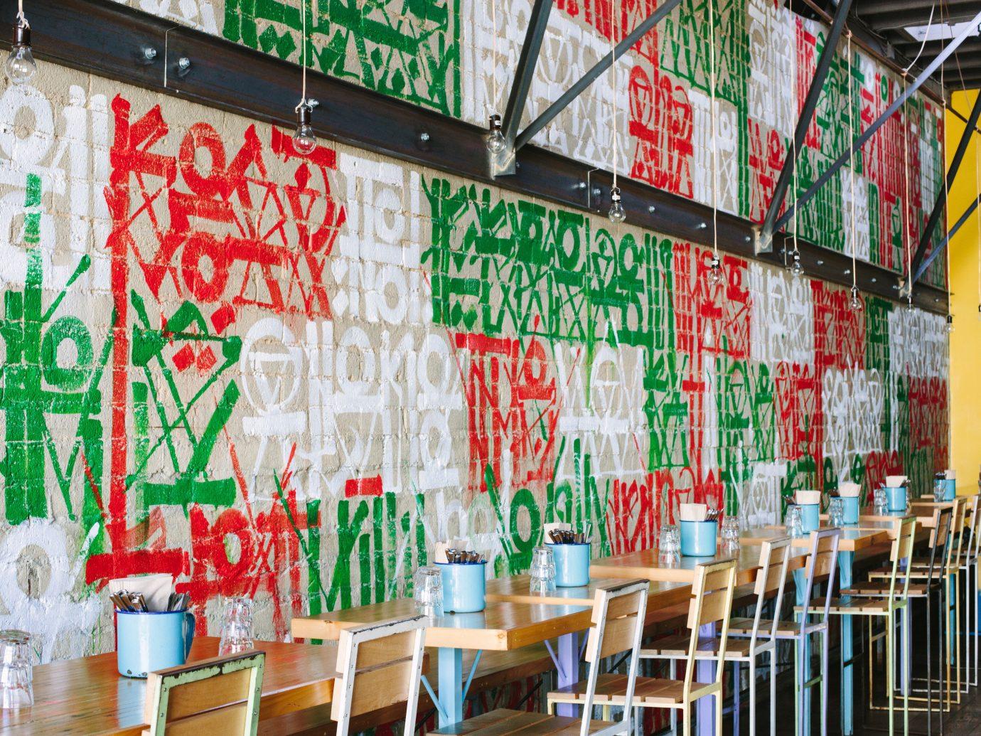 Food + Drink color urban area art restaurant colorful