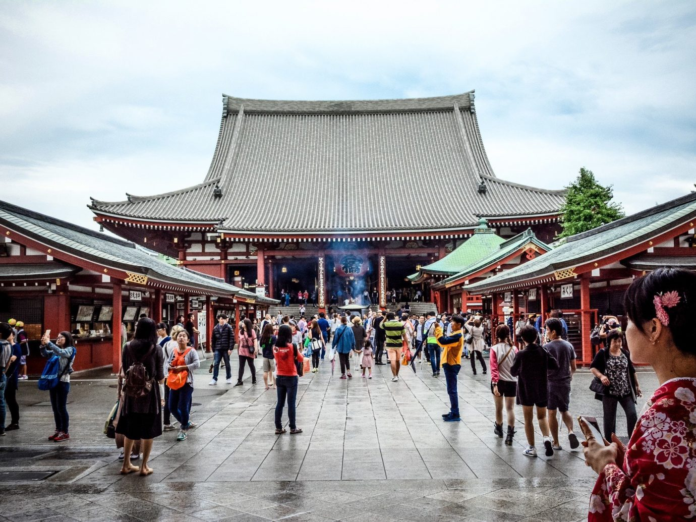 Architecture asia attraction building Buildings crowd Cultural culture Exterior Historic people temple tourists sky outdoor group public space City tourism market shrine travel several day