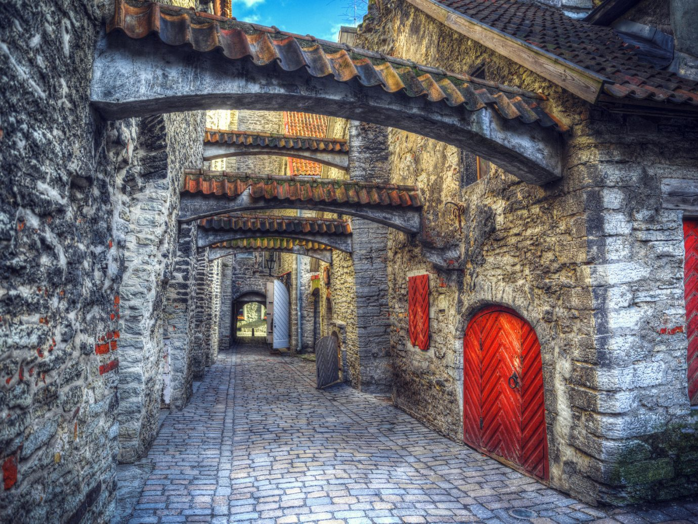 Trip Ideas stone Town urban area building wall alley Architecture street art arch brick ancient history temple Ruins shrine monastery