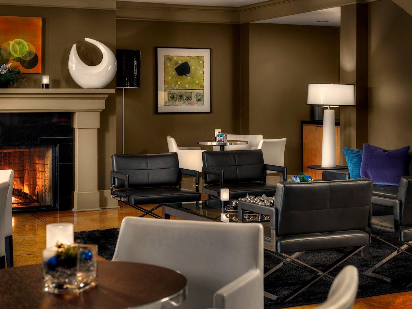 Alberta Boutique Hotels Canada Design Fireplace Hotels Inn Living Modern indoor room living room property home interior design Suite recreation room real estate estate furniture area