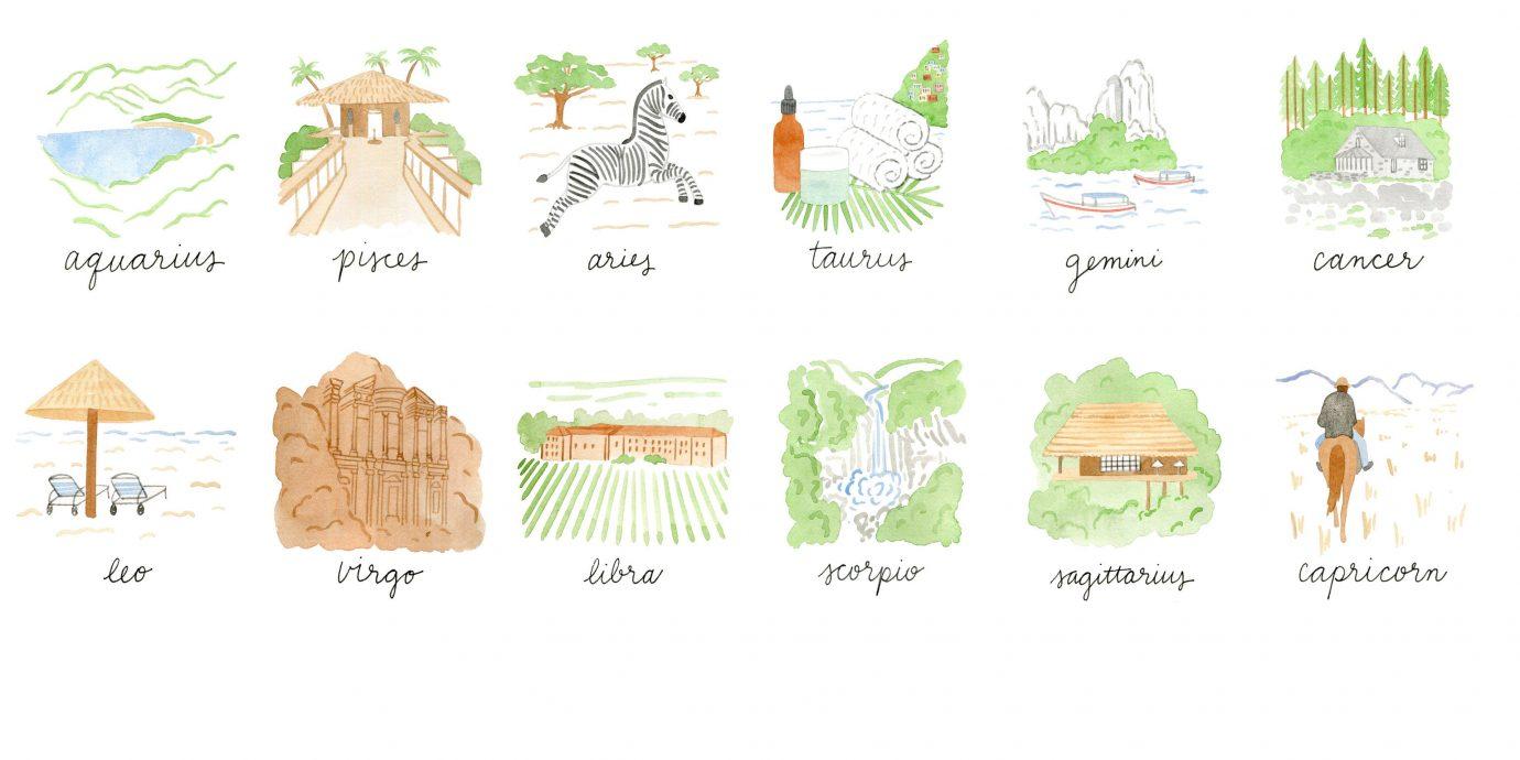 Trip Ideas text cartoon drawing sketch brand illustration