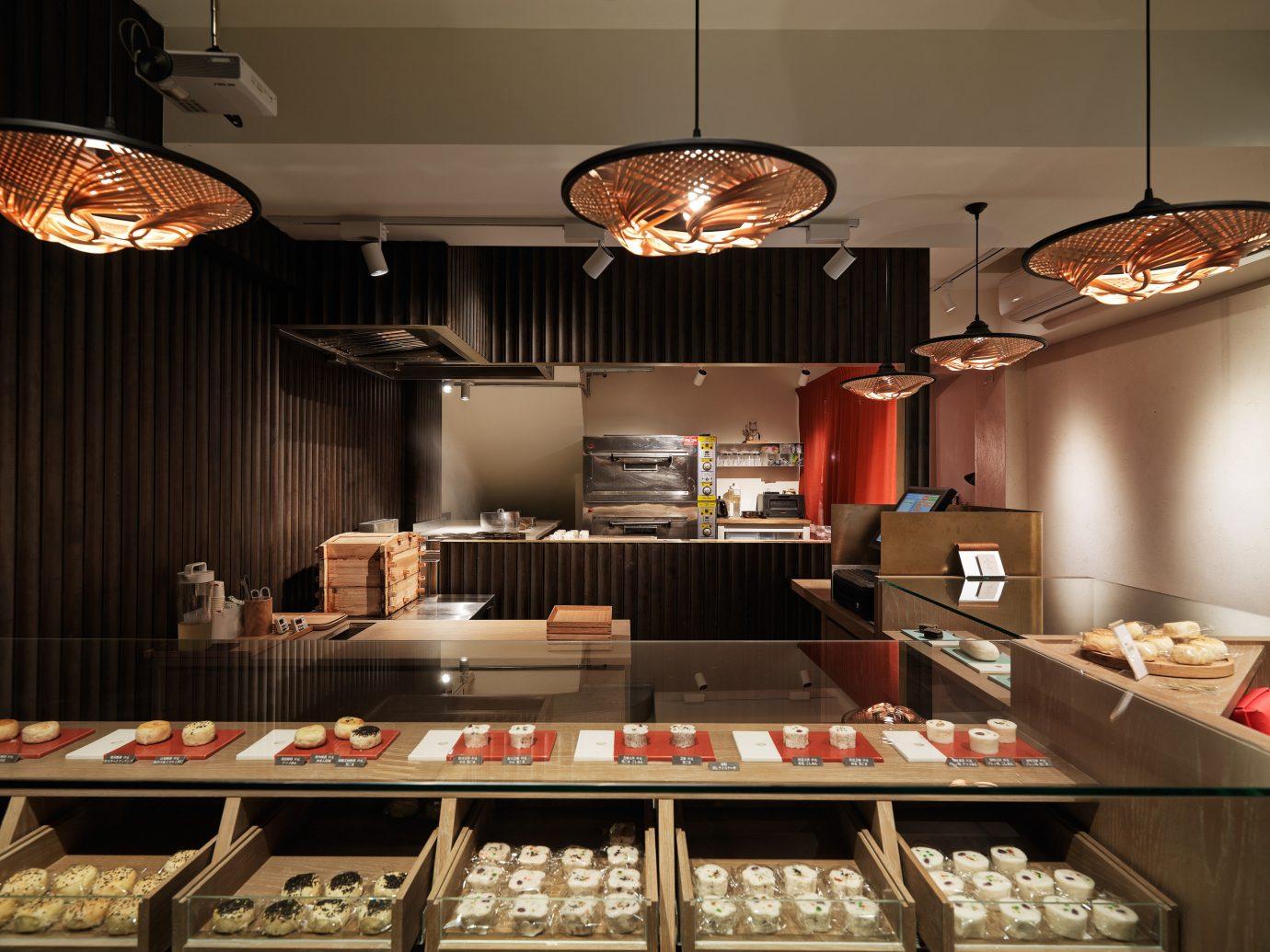 Trip Ideas indoor room food bakery interior design cuisine meal Kitchen countertop Design restaurant counter buffet cabinetry several