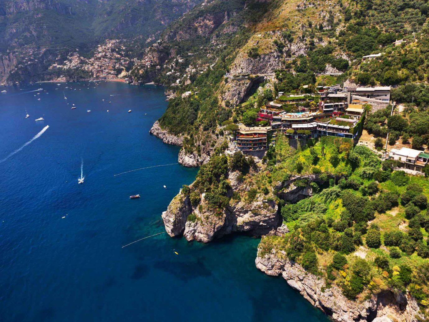 Hotels water mountain outdoor aerial photography Nature Coast geographical feature landform Sea archipelago bay cape fjord cliff cove islet Lake terrain Island hillside surrounded