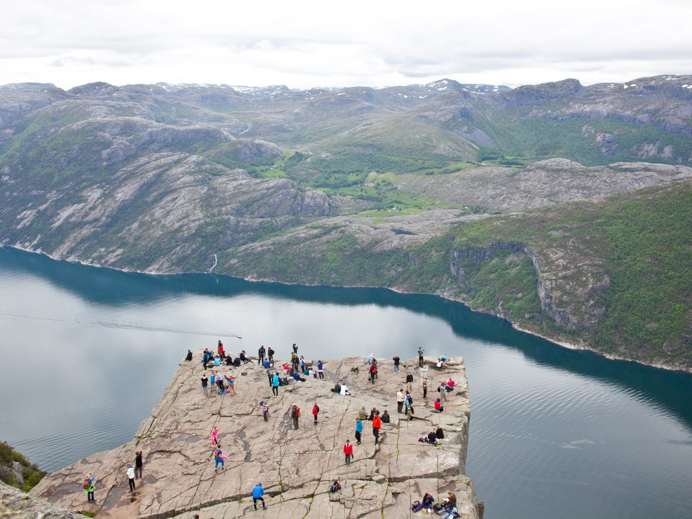 Cliffs Mountains Outdoor Activities Outdoors overlook people Scenic views Trip Ideas view viewpoint mountain Nature water mountainous landforms outdoor landform Lake fjord mountain range loch reservoir aerial photography glacial landform mountain pass alps terrain crater lake