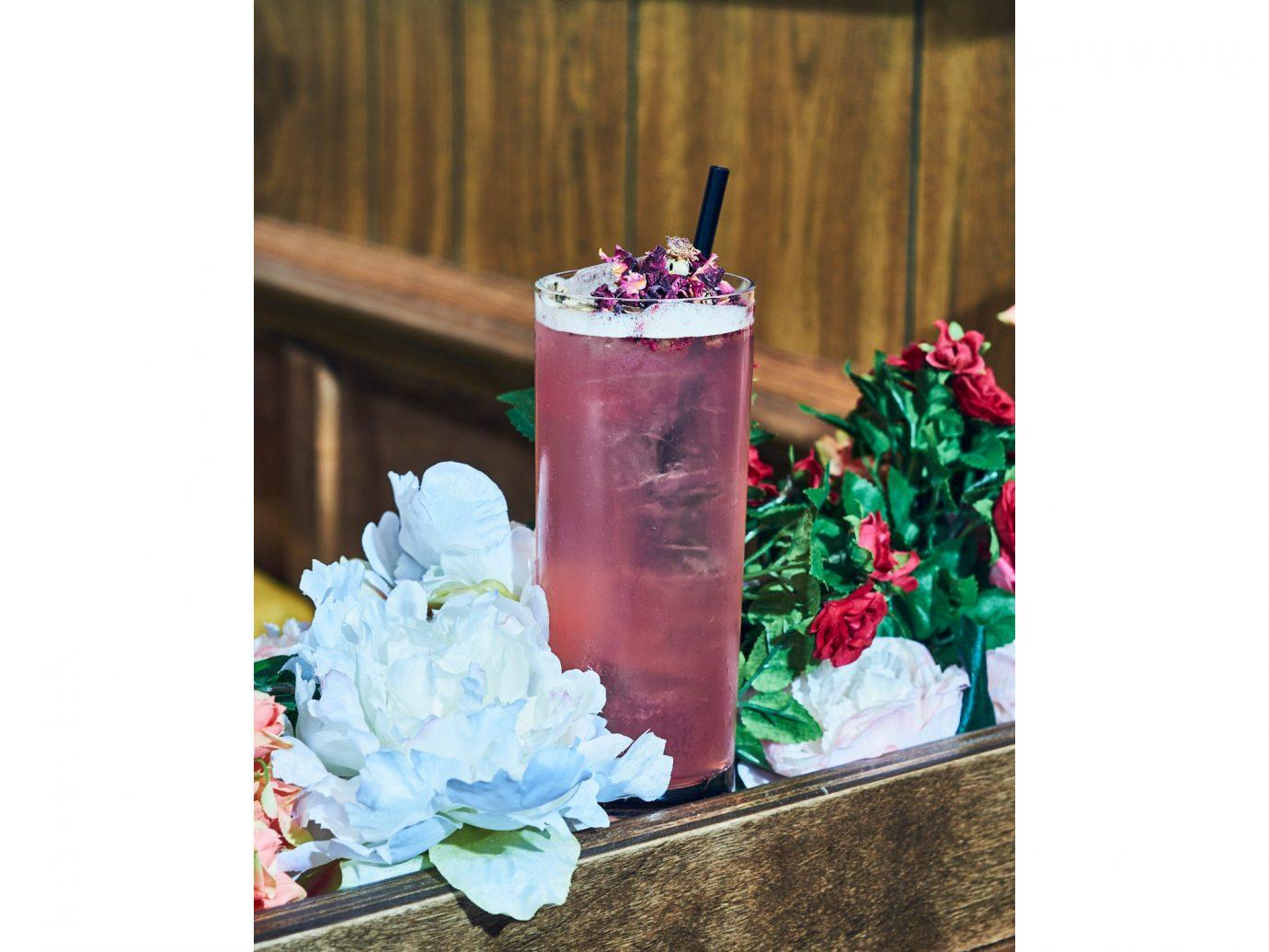 Food + Drink Trip Ideas indoor Drink flower floristry flower arranging centrepiece petal floral design drinkware
