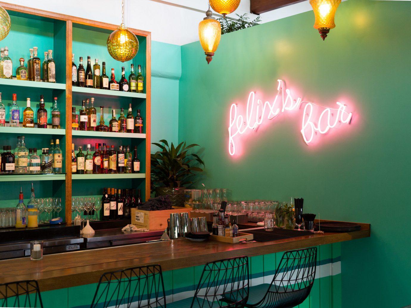 Food + Drink green indoor interior design restaurant table café