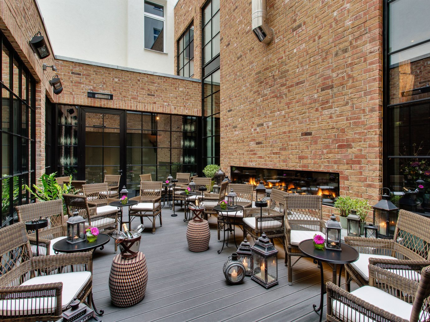 Berlin Boutique Hotels Germany Hotels Luxury Travel building property outdoor neighbourhood Courtyard restaurant estate condominium plaza furniture