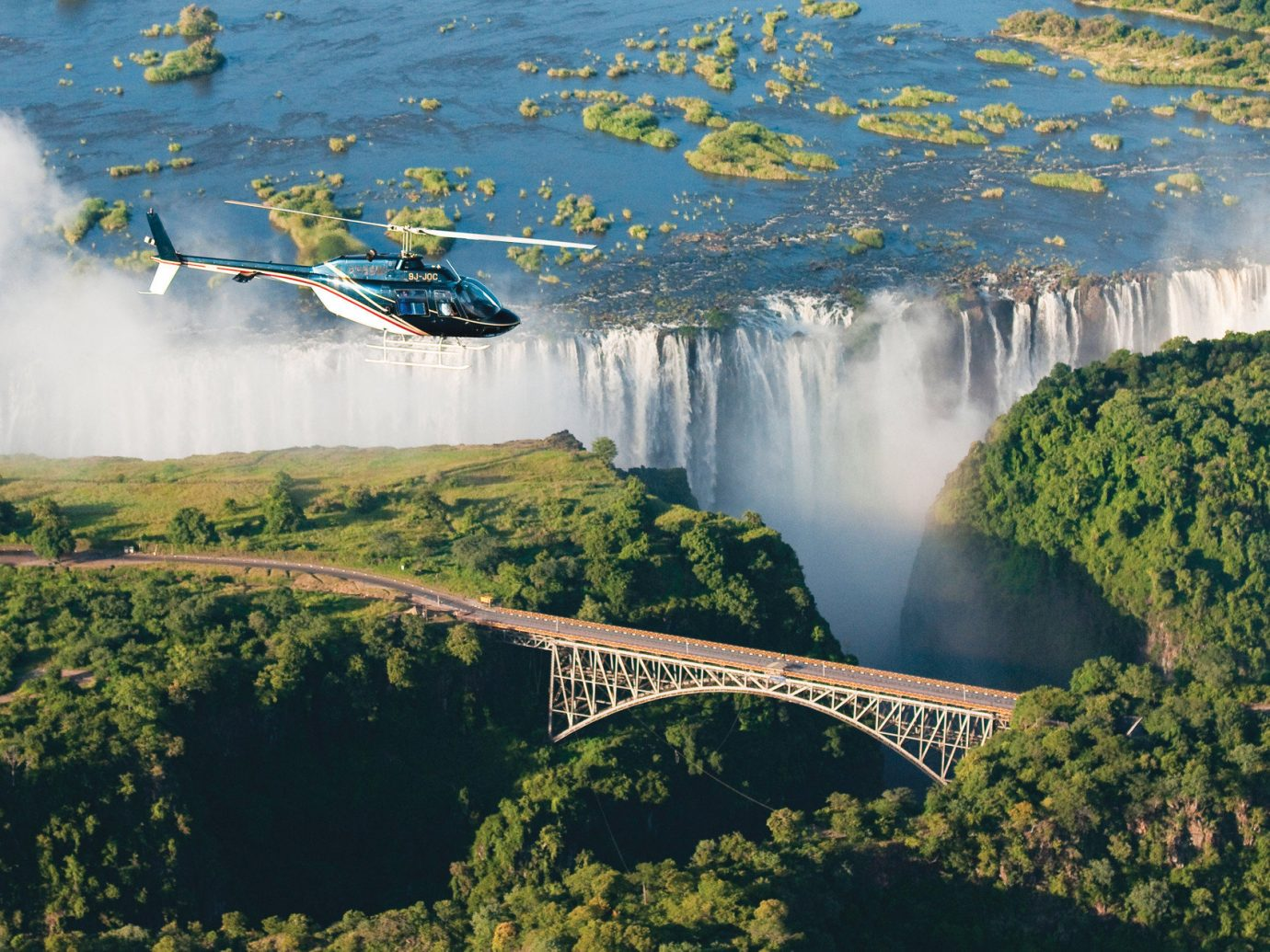 Offbeat Trip Ideas tree outdoor Nature reflection atmospheric phenomenon water aerial photography body of water River atmosphere of earth reservoir morning Lake bridge landscape water feature